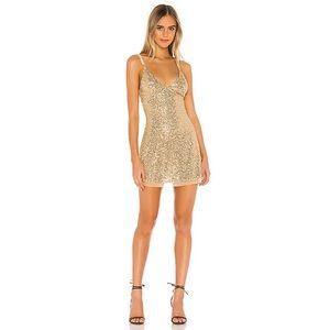Intimately Free People Gold Rush sequin slip Dress